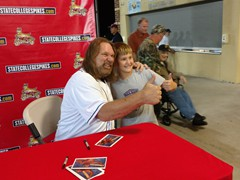 Hacksaw Jim Duggan/State College Wrestling Legend, Hacksaw Jim Duggan took part in a ballpark appearance with the State College Spikes.
