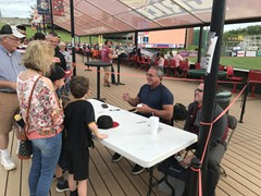 Pittsburgh Pirates great, Andy Van Slyke on hand for a ballpark appearance meeting and greeting fans of the Altoona Curve