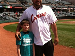 Pittsburgh Steelers Defensive End, Cam Heyward takes time for a photo during a ballpark appearance in Curve, PA.