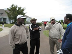 "Baseball Legends George Foster, Manny Sanguillen, Ken Griffey and Paul Blair at the ""Memphis Redbirds Classic"" Golf Tournament"