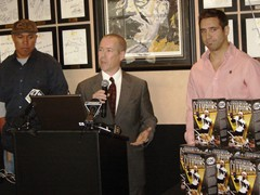 """City of Champions"" press conference with Hines Ward and Max Talbot"