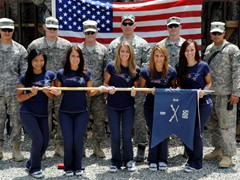 New England Patriots Cheerleaders peform for the troops in Afghanistan